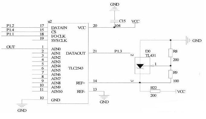 89C51单片机与TLC2543芯片的串行A/D驱动程序设计