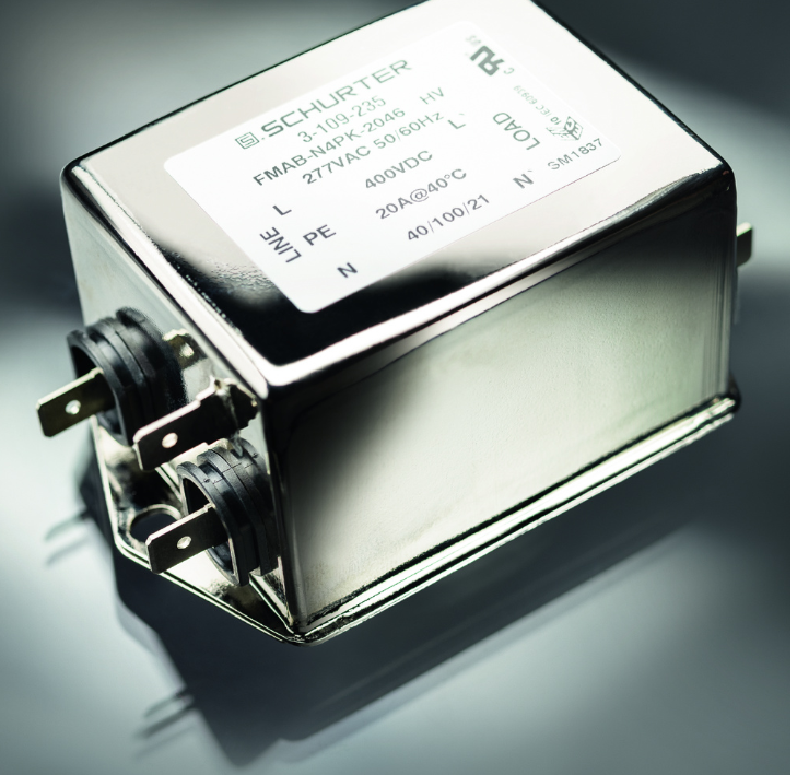 SCHURTER推出最新FMAB HV系列通用型单相EMI滤波器