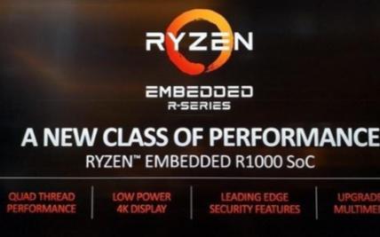 AMD推锐龙嵌入式R1000处理器Zen架构