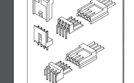 A2544系列2.50毫米节距线对板连接器的数据手册免费下载
