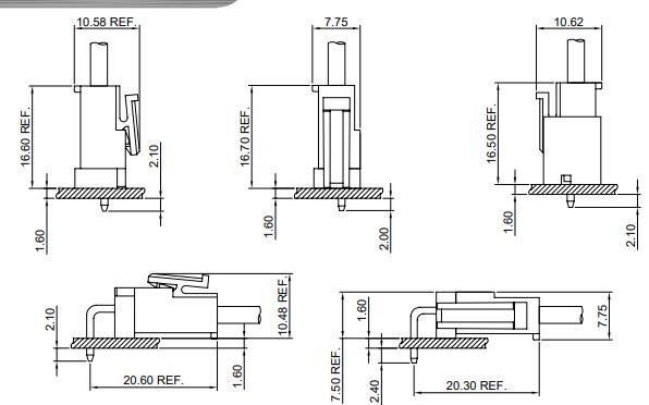A3963系列3.96mm节距线对板连接器的数据手册免费下载