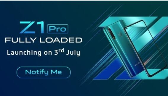 vivo Z1 Pro将于7月3日发布搭载骁龙710平台最高支持8GB+128GB内存