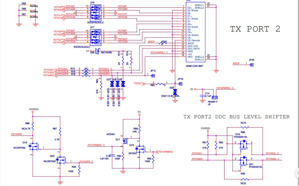 IT6634 demo演示板的电路原理图免费下载
