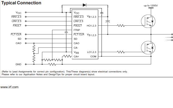 IR2133系列高电压和高速功率MOSFET IGBT驱动器的数据手册免费下载