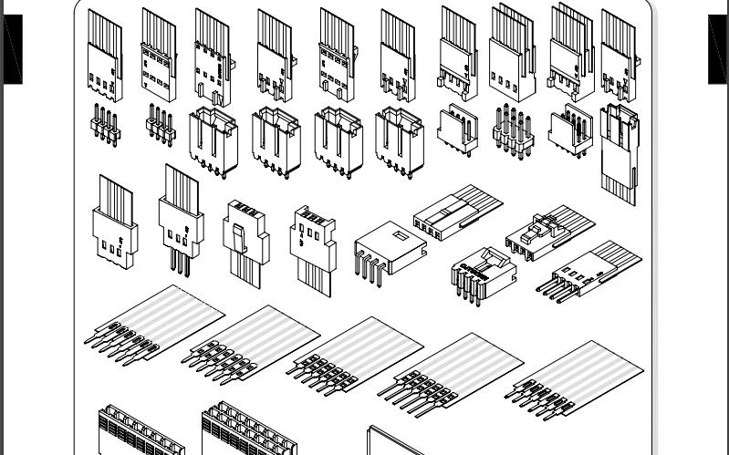 A2550系列2.54mm节距FFC压接式柔性接头连接器的数据手册免费下载