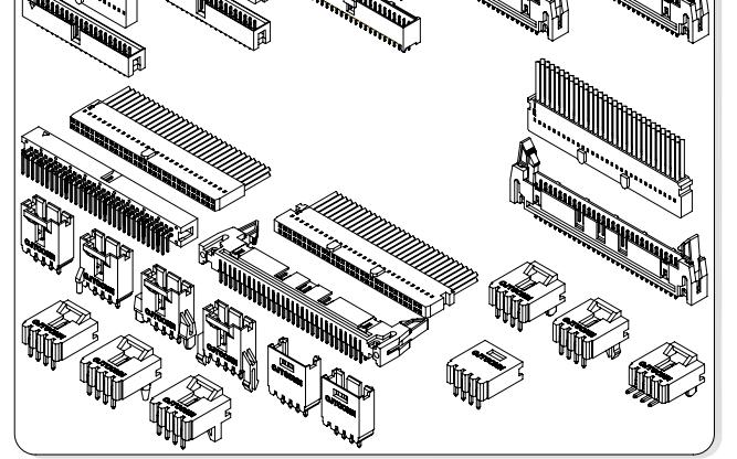 A2547系列2.54mm节距线对板和线对线连接器的数据手册免费下载的