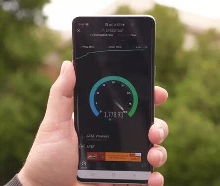 AT&T的5G网络速度测试显示最高速度已...