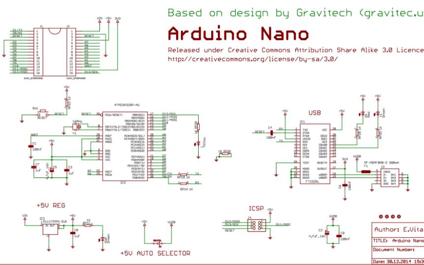Arduino Nano电路原理图免费下载