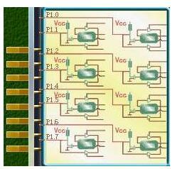 51单片机P1口的结构及应用方法介绍