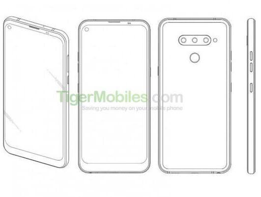 LG电子新手机专利曝光采用了打孔式前置摄像头设计