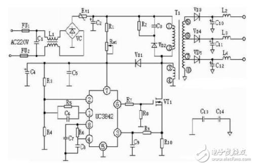 PWM芯片UC3842应用电路图汇总免费下载