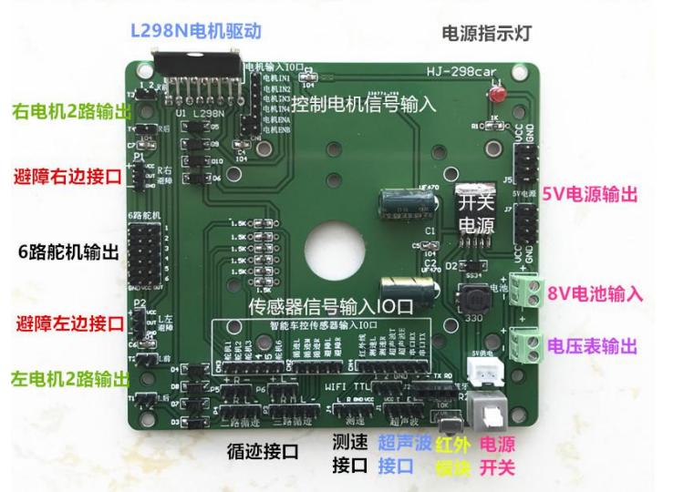 使用树莓派设计智能小车教程之树莓派底板功能的讲解资料