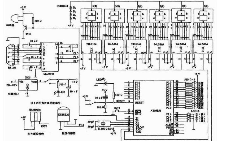 使用89C52单片机设计的红外遥控数码管的实验资料免费下载