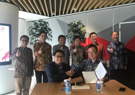 中兴通讯与印尼数字电信运营商Telkom共同签署...