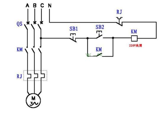 220V线圈的接触器改成380V线圈的接触器