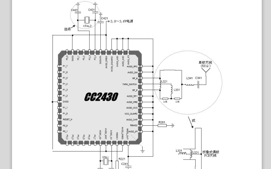 CC2430 SoC系統芯片的數據手冊免費下載