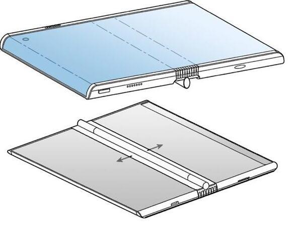 三星新折叠屏手机设计专利曝光采用了向外折叠设计和双弧形显示屏