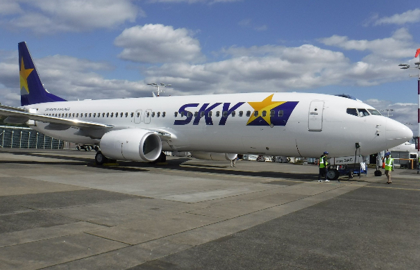 中银航空租赁已向Skymark航空交付了最后一架波音737-800NG飞机