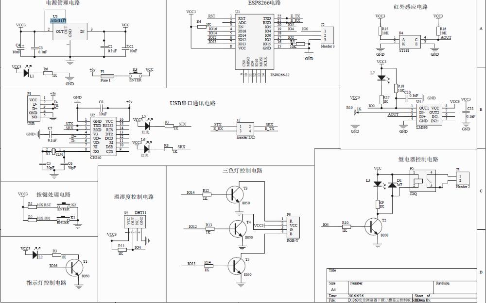 蘑菇云开发板电路原理图免费下载