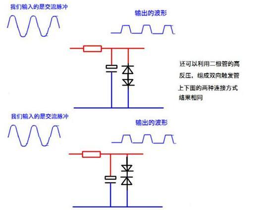 直流电机H桥电路中四个二极管的作用