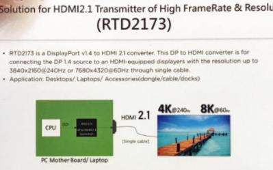Realtek最新转换器能将DisplayPor...