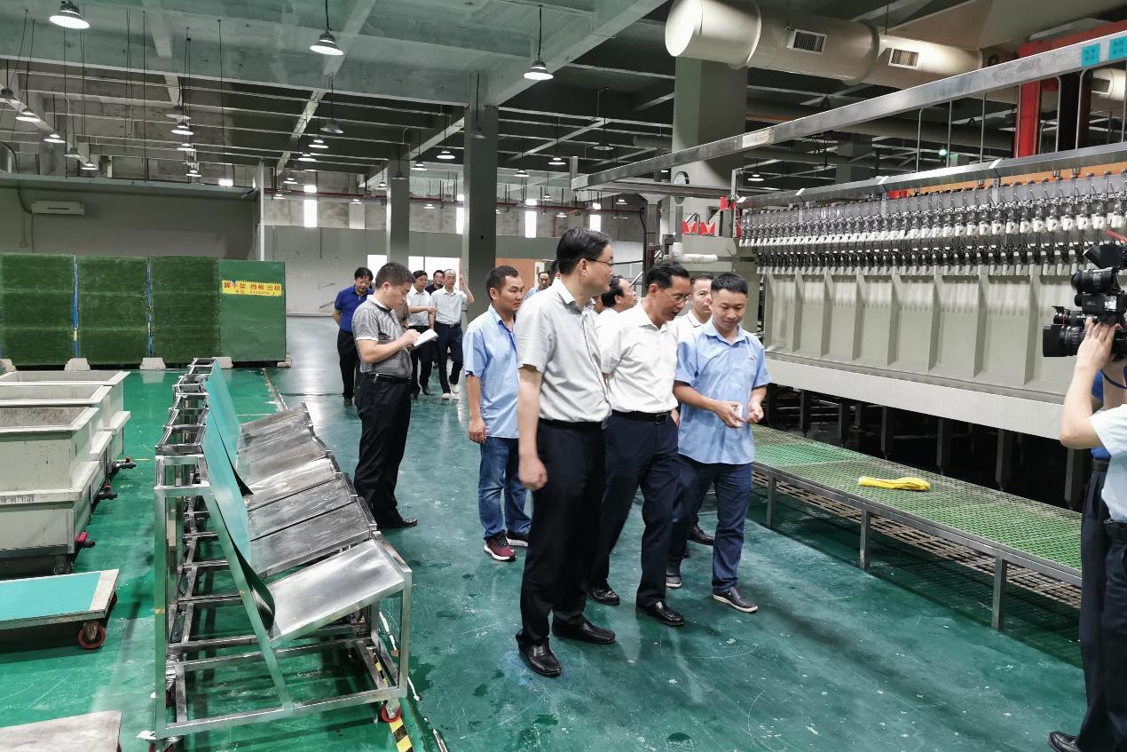 九江市市委书记一行考察华秋电路九江工厂