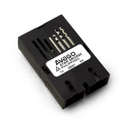 AFBR-5803AQZ 125 MBd MMF收发器,用于快速以太网(100Base-FX)/ ATM / FDDI,1x9,外部温度(-40C至100C),RoHS