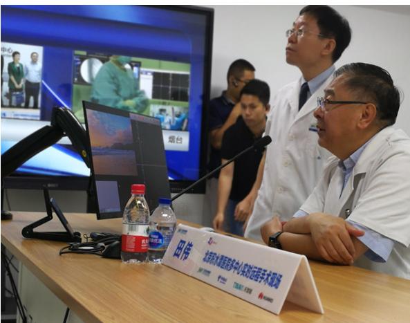 北京积水潭医院成功完成了全球炙�崾桌�骨科手←术机器人5G远程手术