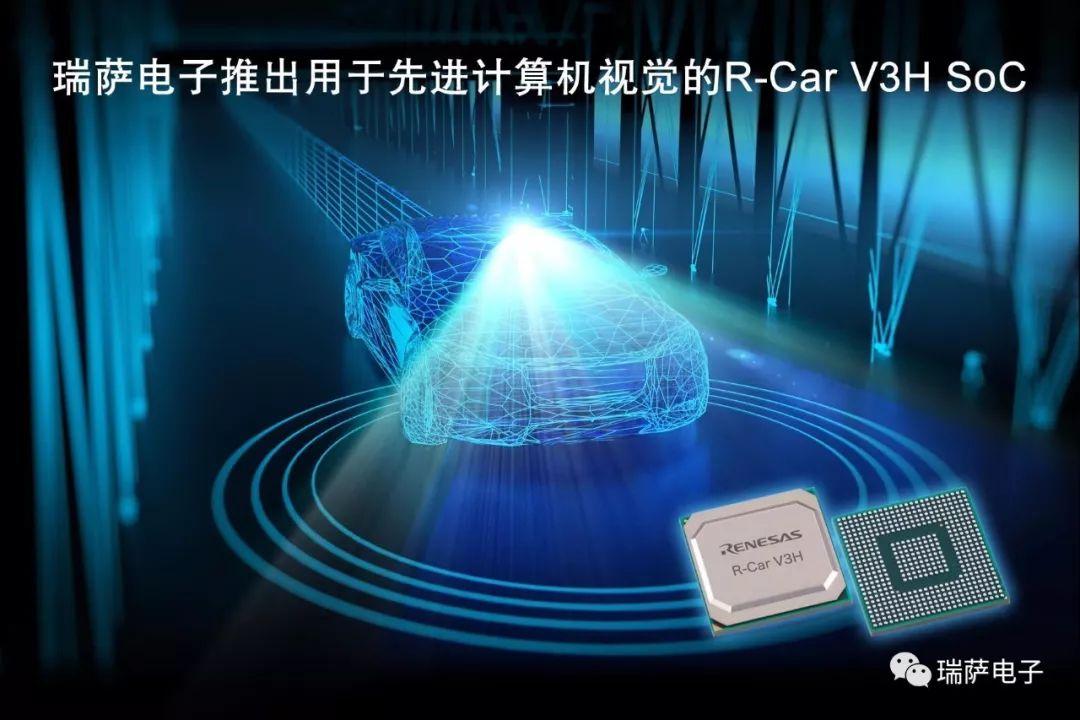瑞萨电子推出新款R-Car V3H片上系统(SoC)