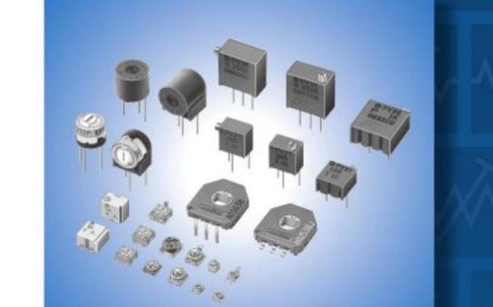 村田可调电阻微调电位器和旋转角度传感器选型表免费下载