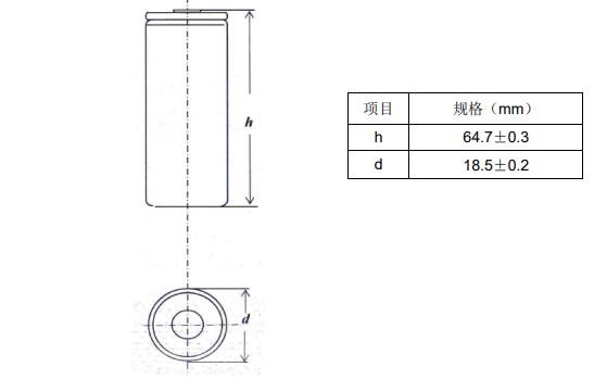 18650CL 2200mAh低温聚合物锂离子电池的数据手册免费下载