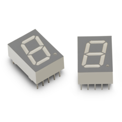 "HDSP-H5A3 0.52""7段单数字LED显示屏(深红色,CC)"