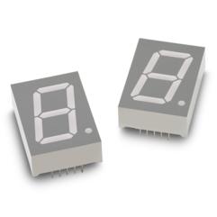 "HDSP-H1A3 1.0""7段单数字LED显示屏(深红色,CC)"