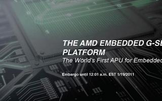 AMD将发布嵌入式APU处理器