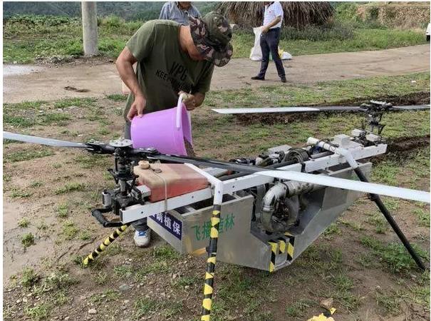 无人机是怎样种树的