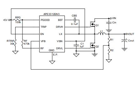APE3312同步降壓控制器的數據手冊免費下載