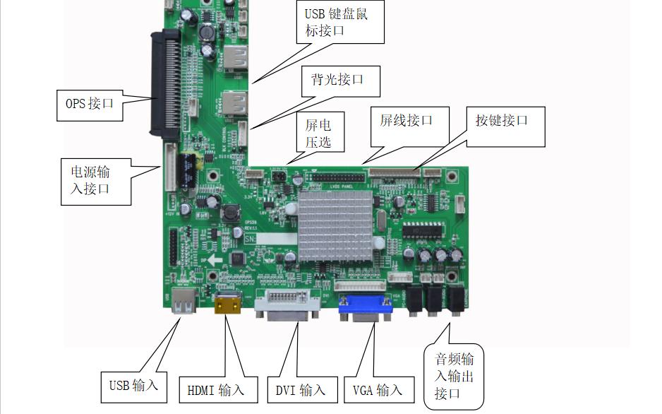OPS59液晶控制板的数据手册免费下载
