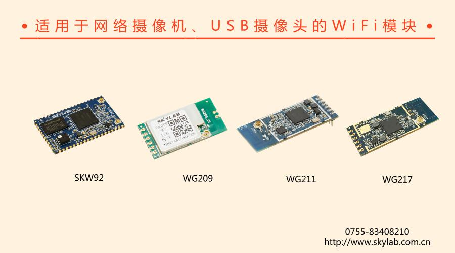 介绍一款适合安防领域无线网络摄像机的WiFi模块
