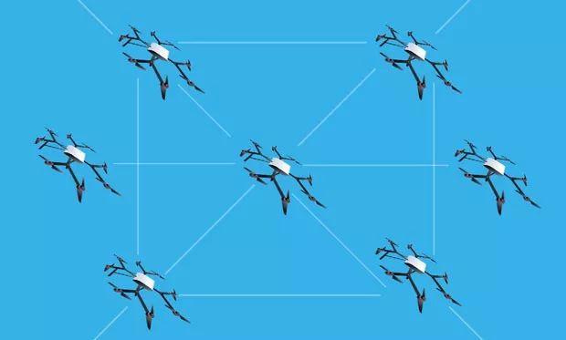 """世界首架用于不可穿透的空对地数据链的""""量子无人机..."""