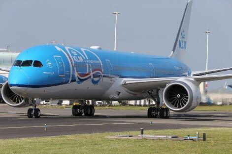 荷兰航空接收了首架波音787-10飞机并计划到2022年数量达到15架