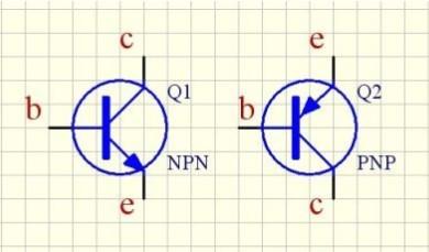 三极管的类型及相对应的引脚图