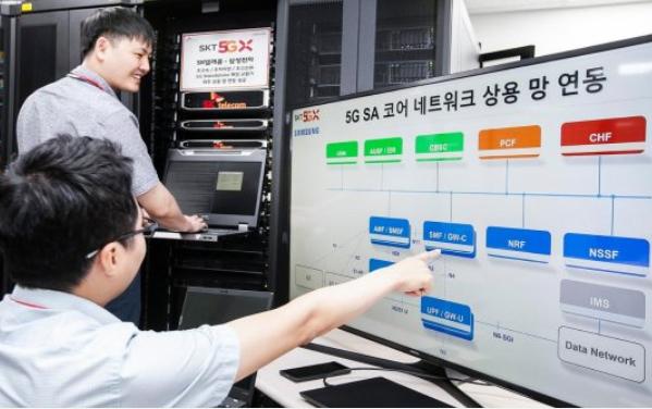 韩国SK电信与三星电子成功实现了基于5G的数据通...