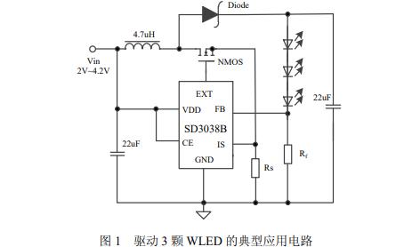 SD3038B高效率恒流限流白光LED驱动的数据手册免费下载