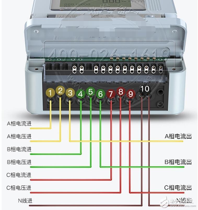 三相四线电表互感器接线图