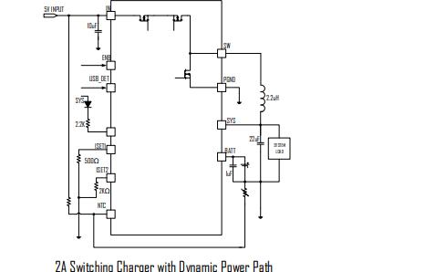 ETA6005开关式锂离子电池充电器的数据手册免费下载