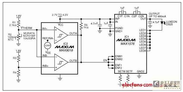 基于一只大功率白光LED模组的电路驱动方案