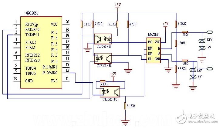 LED智能燈光控制器設計的Protues仿真電路圖和資料介紹