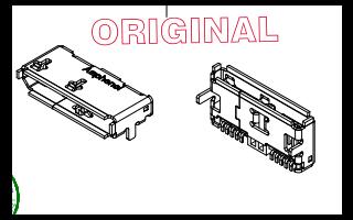 GSB343K33HR USB连接器的尺寸原理图免费下载