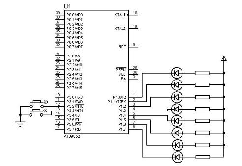 AT89S52单片机的掉电模式与中断触发唤醒测试