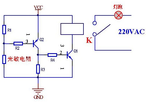 光敏电阻的工作原理及开关设计应用